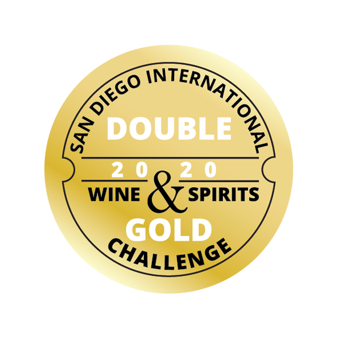 San Diego Internatinoal Challenge Double Gold Award for Spirits